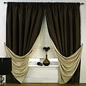 (One Panel) Solid Energy Saving Classic Curtains