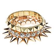 1 Set Of 3 Rivet Bracelet Set