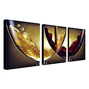 Hand-painted Oil Painting Abstract Wine Oversized Landscape Set of 3