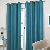 Classic Polyester Solid Energy Saving Curtains (Two Panels)