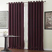 (One Panel) Texture Embossed Classic Blackout Curtain