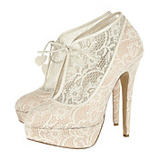 Elegant Lace Stiletto Heel Closed Toe With Platform Party / Evening Shoes