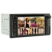 6.2-inch 2 Din TFT Screen In-Dash Car DVD Player For Toyota With Bluetooth,Navigation-Read GPS,iPod-Input,RDS,TV