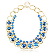 Fashion Alloy / Crystal With Resin Women's Necklace