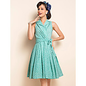 TS VINTAGE Dotted Warp Dress