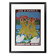 Framed Art Print Vintage Three Woman poster by Vintage Apple Collection