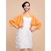Nice 3/4 Sleeve Chiffon Evening/Wedding Wrap/Jacket (More Colors)