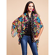 Colorful Voile With Pattern Daily Wear Scarf/Shawl (More Colors)