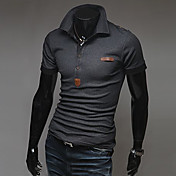 Men's Slim Epaulet Short Sleeve  POLO T-Shirt