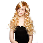 Capless Long Heat-resistant Fashion Costume Party Wig