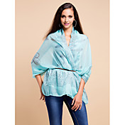 Elegant Voile With Pattern Party/Evening Scarf/ Shawl (More Colors)