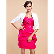 3/4-Length Sleeve Satin Special Occasion Jacket/Wedding Wrap(More Colors)