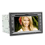 6.2 Inch 2DIN Car DVD Player with Bluetooth, RDS