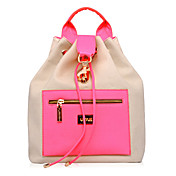 Fashion Stylish Contrast Color Backpack