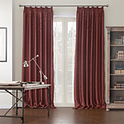 (One Panel) Modern Solid Cotton Polyester Blend Blackout Curtain