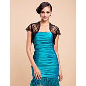Elegant Short Sleeve Lace Evening/Casual Wrap/Jacket