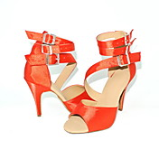 Customized Women's Triple Strap Satin Dance Performance Shoes (More Colors)