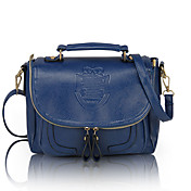 Lady's Elegant Tassel Crown Pattern Satchel