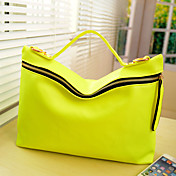 Fashion Fluorescence Big Zippered Crossbody Bag