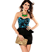 Sequin Top Peplum Dress