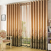 Champagne Flowers Energy Saving Curtain Panel