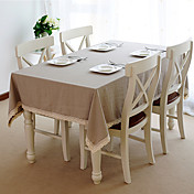 Linen Table Cloth with Lace