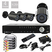 Ultra Low Price 4CH D1 Real Time H.264 CCTV DVR Kit(4 420TVL Waterproof Night Vision CMOS Cameras)