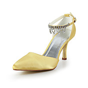 Great Satin Stiletto Heel Pumps with Rhinestone Chain Wedding/Special Occasion Shoes(More Colors)