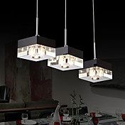 Italian-Style Minimalist 3 Light Pendant with Transparent Shade
