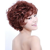 Capless Short High Quality Synthetic Auburn Curly Hair Wig