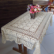 Handmade Retro Beige Hollow Table Cloths