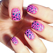 4PCS Pure Color Fast-Drying Nail Polish Suits For Magic Dots Pattern (8ml)