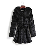 Long Sleeve Shawl Faux Fur Party/Casual Coat(More Colors)