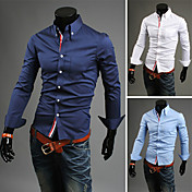 Men'S Trendy Slim Knit Shirt