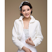Elegant Long Sleeve Faux Fur Wedding/ Party Jackets/ Wraps