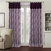(One Panel)Royal Stretched Branches Lined Blackout Curtains