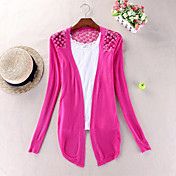 Women's Lace Embroidery Sheer Knitwear Coat