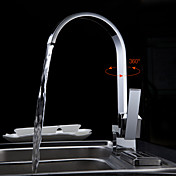 Contemporary Brass Kitchen Faucet (Chrome Finish)