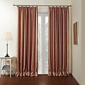 (One Panel)Mediterranean Rust Striped Lined Blackout Curtains