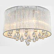 Modern Delicate  Crystal 4 Light Flush Mount With Transparent shade