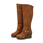 DUMOO Women's Sexy Classic Round Toe Boots
