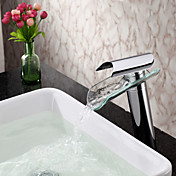 Contemporary Glass Spout Single Handle Waterfall Faucet
