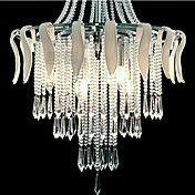 Modern Luxury Elegant 6 Light Pendant In Flower Design