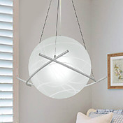 Modern Artistic 1 Light Pendant In Globe Shade