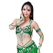 Dancewear Polyester With Sequins And Rhinestone Belly Dance Outfits for Ladies(More Colors)
