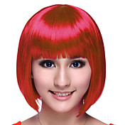 Capless High Quality Synthetic BoB Party Wigs 4 Colors to Choose
