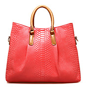 PMSIX Women Candy Color Crocodile Vein Handbag