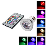 E27 5W RGB Light IR Remote Controlled LED Spot Bulb (85-265V)