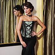 Charming Polyester Strapless Side Zipper Closure Corsets Shapewear
