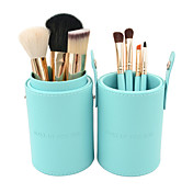 7pcs Portable Blue Makeup Brush Set